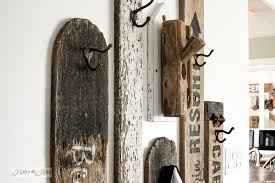 revamped hallway old sign coat hooks entry with funky junk s old sign stencils funkyjunkinteriors