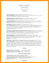 Respiratory Therapist Resume Sample – Districte15.info