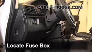 interior fuse box location 2004 2011 mitsubishi endeavor 2011 locate interior fuse box and remove cover
