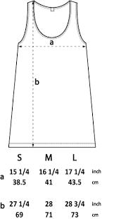 Womens Tunic Vest Size Chart Stori Clothing