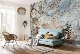 Marble Mural: Black & White Wallpaper ...