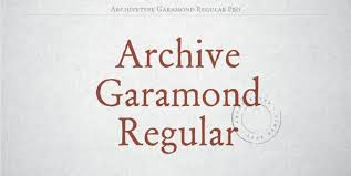 Download Garamond Archive Garamond Pro Font Family Ifonts Xyz