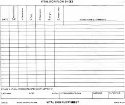 Temperature Pulse Respiration Chart Template Ci399 Project