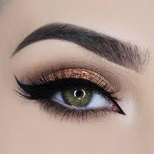 gold smokey eye bridal makeup