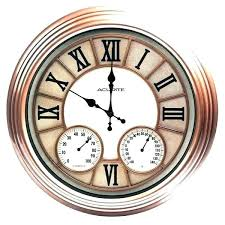 outside clocks garden smart in designs wall clock and inside outdoor thermometer set prepare decorative
