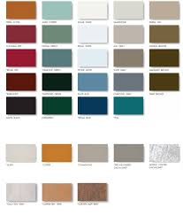 Bunger Steel Color Chart Standing Seam Matalon Roofing