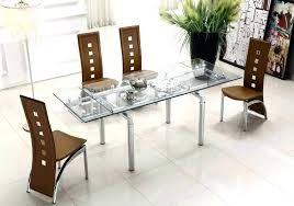 contemporary dining table and chairs glass dining table set dining sets with chairs extendable clear glass