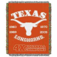 Texas Longhorns Throw Blanket