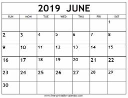 June 2019 Calendar Free Printable Calendar Com