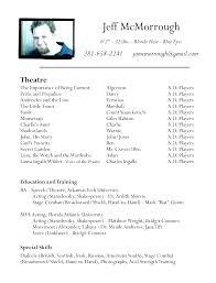 Acting Resume Beginner Actor Resume Examples Orlandomoving Co