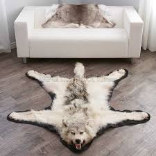 6 feet 3 inches 188 cm arctic wolf skin rug ep4155125a
