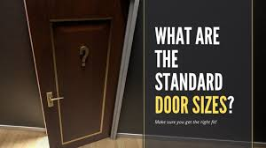 what are the standard door sizes in