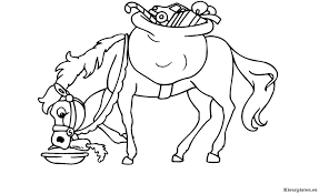 Fris Kleurplaat Paard Hond Sinterklaas En Zijn Paard Kleurplaat
