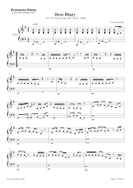 World Of Light Piano Sheet Music Dear Diary Death Note Light Up The New World Theme Stave