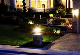 contemporary landscape lighting. contemporary landscape lighting plus soe decorative plants and green lawn make this home garden looks more