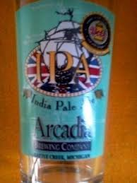 arcadia brewing company india pale ale pint beer glass battle creek michigan