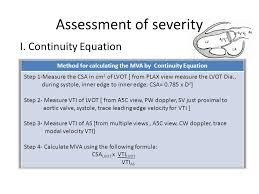 42 sment of severity i continuity equation