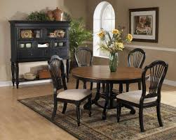Hillsdale Dining Table Hillsdale Wilshire Round Oval Dining Table Rubbed Black Finish