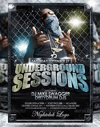 flyer rap free underground flyer templates 160 free and premium psd design print