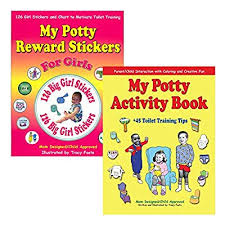 Potty Training Kit Toddler Girl Reward Stickers Chart Coloring Activity Book And The Best 45 Parent Toilet Training Tips For Positive