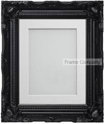 frame company langley range ornate black picture photo frames with mount