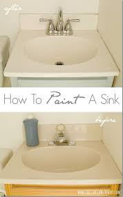 resurface bathroom sink how to paint a sink sinks giveaway and ace hardware