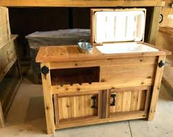 outdoor bar with cooler outdoor cooler table rustic wooden cooler table bar cart wine bar with