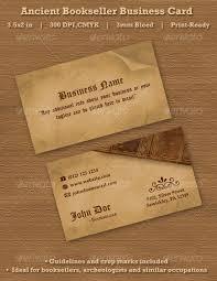 ancient bookseller business card premium template best namecard
