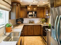 Hanging Kitchen Cabinets Kitchen Brown Kitchen Cabinets Stainless Steel Sink And Faucet