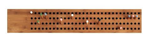 wall mounted coat rack contemporary wooden scoreboard by sebastian jørgensen