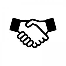 握手のシルエット 無料のaipng白黒シルエットイラスト