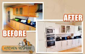 painting kitchen cabinets kitchen respray