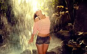 Girl in Rainy Season Monsoon HD ...