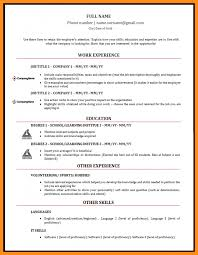 Formato Curriculum Vitae Filetype Doc Resume Ideas Namanasa Com