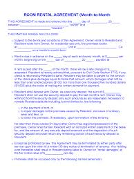 No other approach or intervention mechanism provides this needed leeway than the room rental agreement template. Month To Month Rental Agreement Form 86 Free Templates In Pdf Word Excel Download