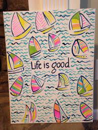 life is good canvas beach canvas
