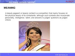 are beauty contests harmful ppt video online  3 meaning a beauty pageant