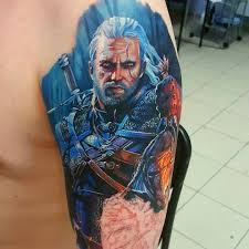 Geralt Tattoo Thewitcher3 Ps4 Wildhunt Ps4share Games Gaming