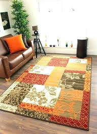 gold brown area rugs red and cream rug