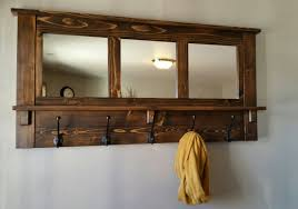 Coat Rack With Mirror Coat Rack Wall Coat Rack Mirrored Coat Rack Rustic Coat 3