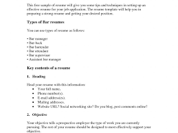 Extremely Barback Resume Sample Classy Gallery Creawizard Com