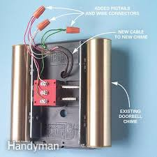 adding a second doorbell chime the family handyman wiring from the chime