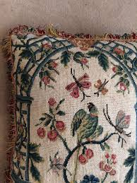 indian antique french cushions. A Cushion Of Late 18th Century French Needlework With Green Paraket Indian Antique Cushions
