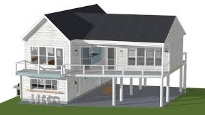 image of beach cottage beach house plans on pilings