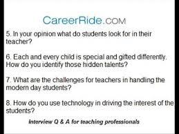 Interview Questions and Answers for Teachers - YouTube Interview Questions and Answers for Teachers