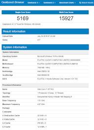 I7 Benchmark Chart Intel Core I7 10710u Posts Almost 40 Higher Geekbench Multi
