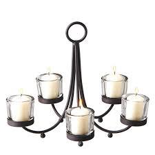 chandelier candle holder metal votive candle chandelier with 5 clear votive holders wall chandelier candle holder