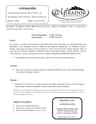 Formato De Cotizacion De Servicio Rome Fontanacountryinn Com