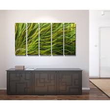 quick view on green and brown metal wall art with sea grass green metal wall art 5 panel wall d cor by jon allen