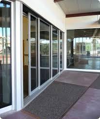 4 panel sliding glass door commercial four exterior doors